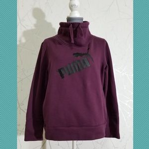 Puma Burgundy Cowl Neck Sweatshirt w/ Spellout
